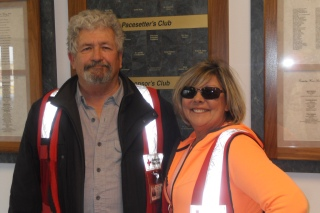 American Red Cross volunteers Rick Boggs and Bonnie Brown assisted the Shaners in Pierce City.